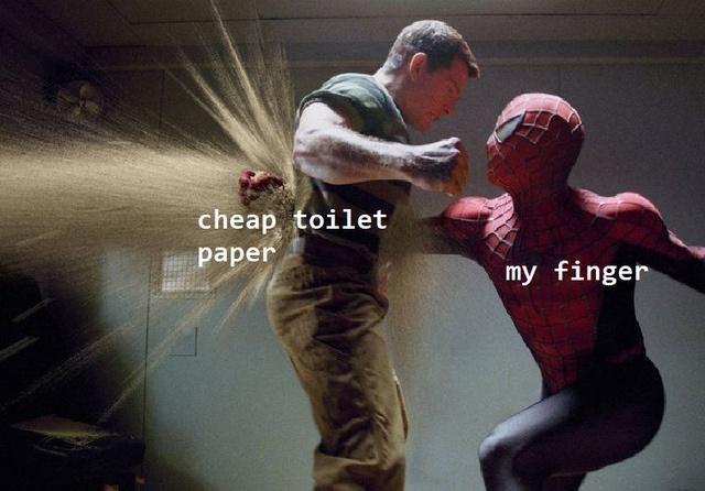 Hand - cheap toilet раper my finger