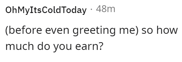 Font - OhMyItsColdToday · 48m (before even greeting me) so how much do you earn?