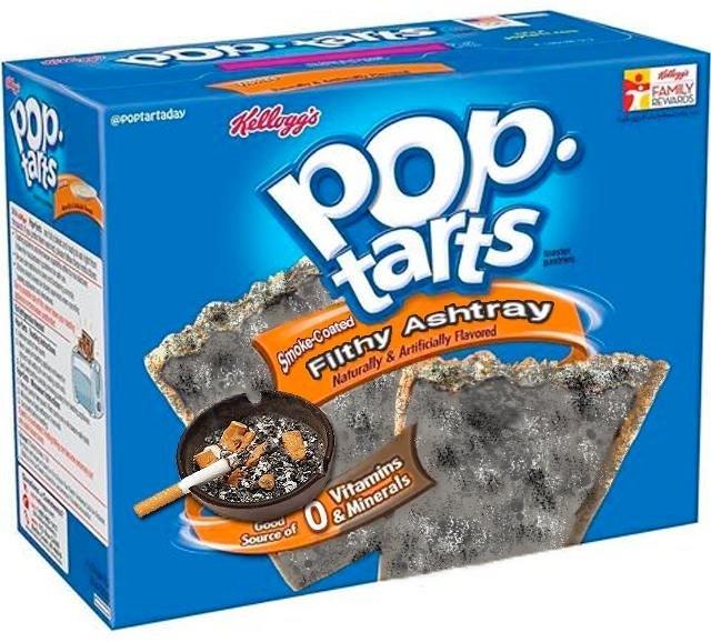 Food - ePOptartaday 1ULLA Pop. tarts how FAMLY BEWAROS Smoke-Coated Vitamins &Minerals Good Source of