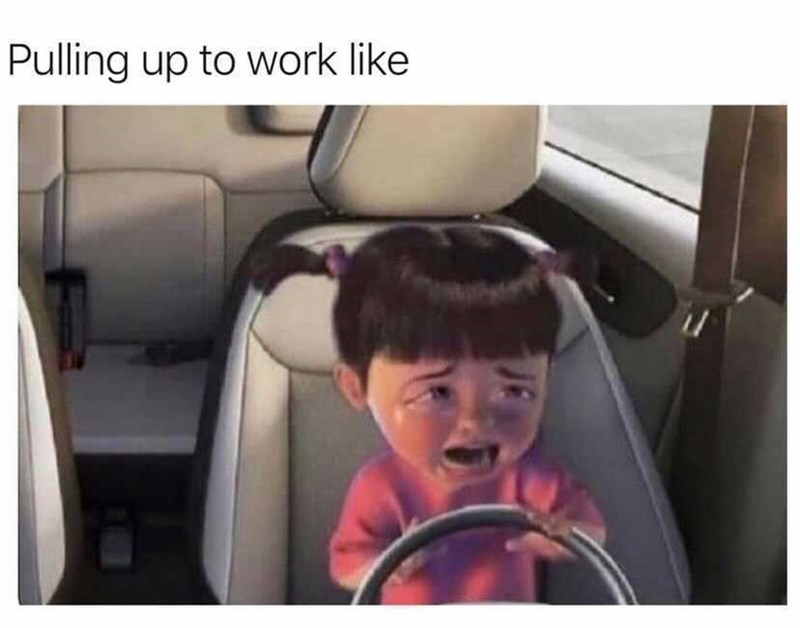 Car - Pulling up to work like