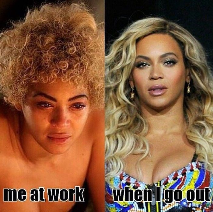 Hair - me at work when igo out
