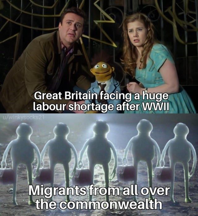 Head - Great Britain facing a huge labour shortage after WWII u/winkysocks21 Migrants from all over the commonwealth