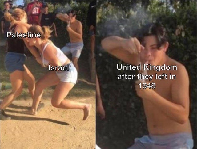 Muscle - Palestine United Kingdom after they left in 1948 Israel