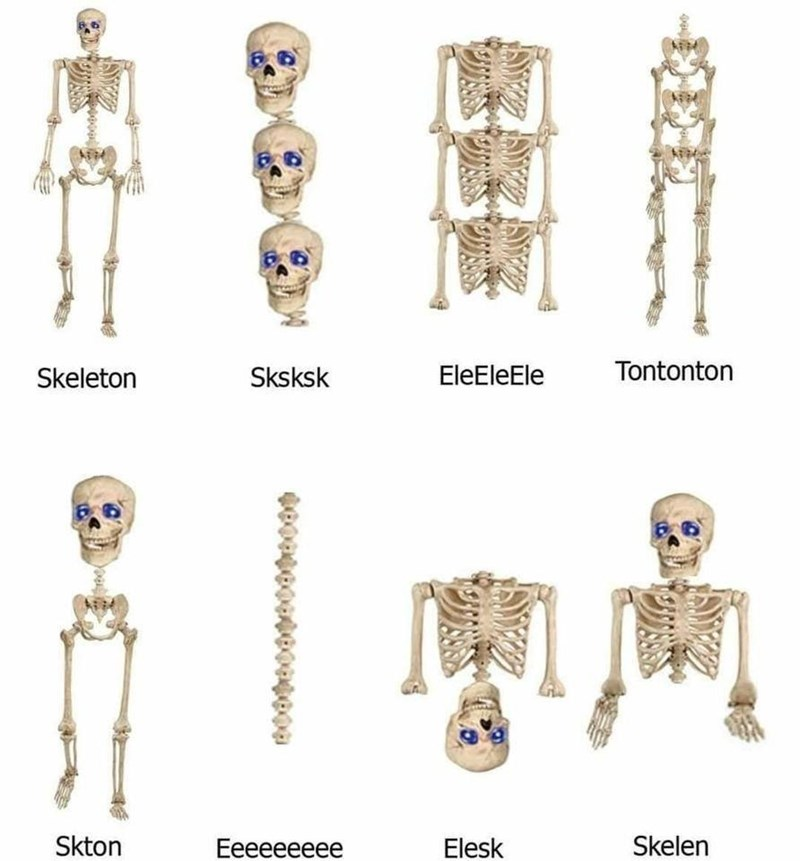 Joint - Skeleton Sksksk EleEleEle Tontonton Skton Еeeееееее Elesk Skelen