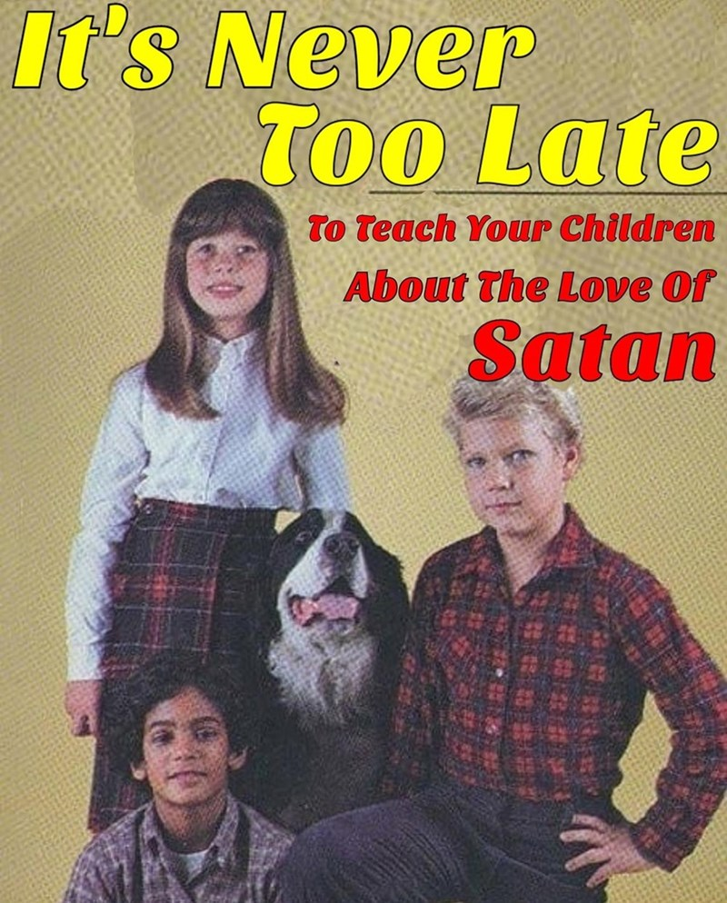 Clothing - It's Never Too Late To Teach Your Children About The Love Of Satan