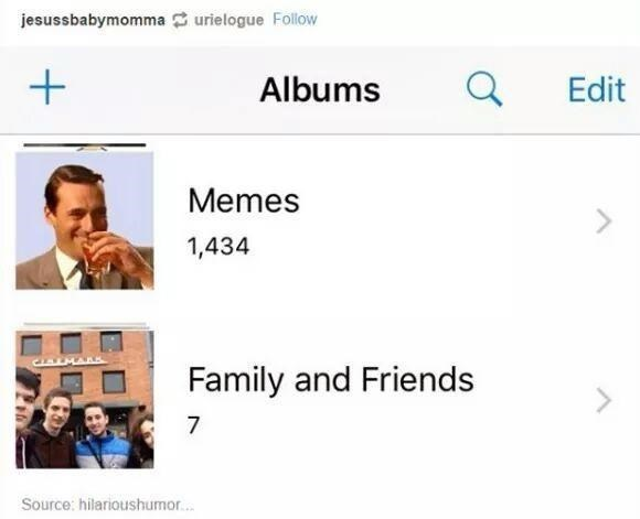 Font - jesussbabymomma urielogue Follow Albums Edit Memes 1,434 CLALMARS Family and Friends 7 Source: hilarioushumor.