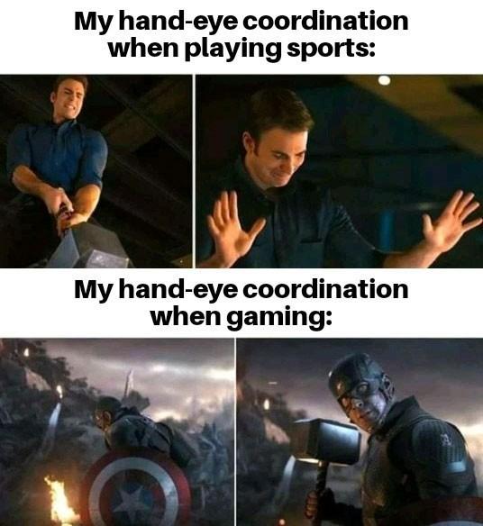 Outerwear - My hand-eye coordination when playing sports: My hand-eye coordination when gaming: