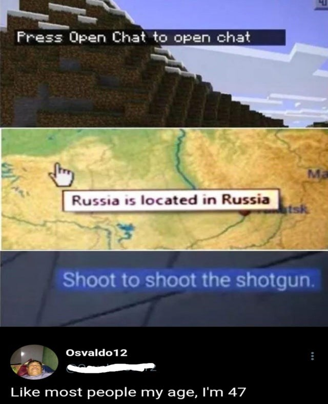 Ecoregion - Press Open Chat to open chat Ma Russia is located in Russia tsk Shoot to shoot the shotgun. Osvaldo12 Like most people my age, I'm 47 れ