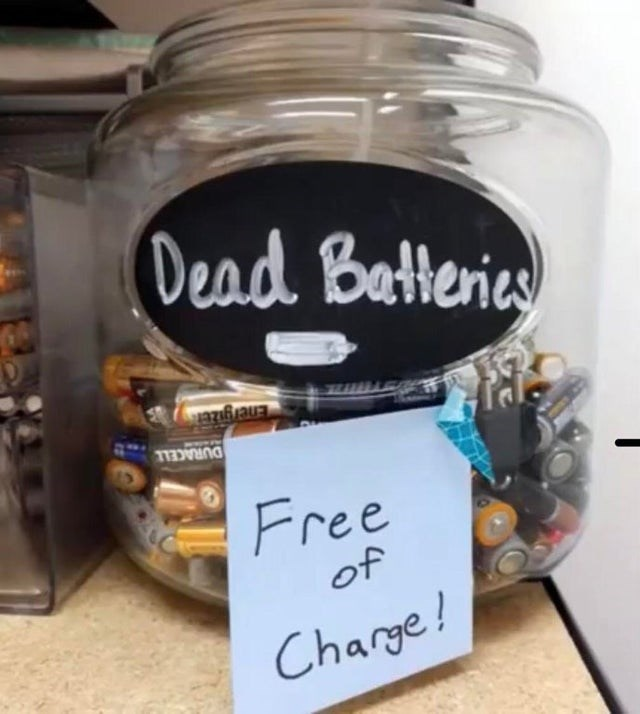 Food - Dead Batteries DURACELL Free of Charge!
