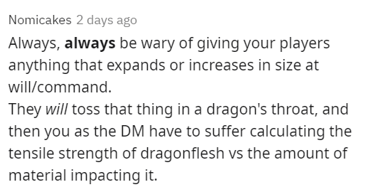 Times Dungeons and Dragons players exploited stupid items