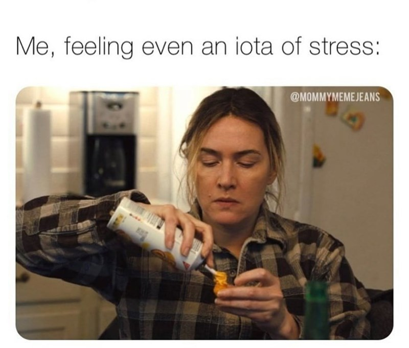 Human - Me, feeling even an iota of stress: @MOMMYMEMEJEANS