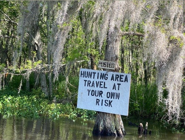 scary warning signs - Water - PUSTED HUNTING AREA TRAVEL AT YOUR OWN RISK