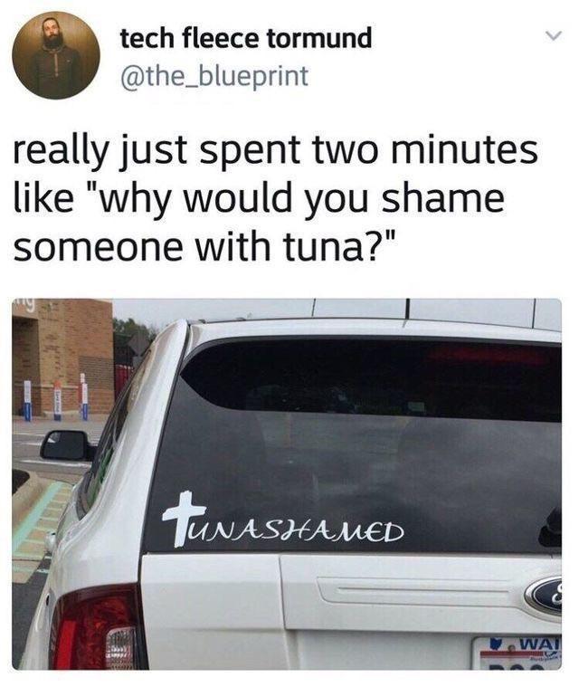 "Automotive parking light - tech fleece tormund @the_blueprint really just spent two minutes like ""why would you shame someone with tuna?"" twASHANE WA"