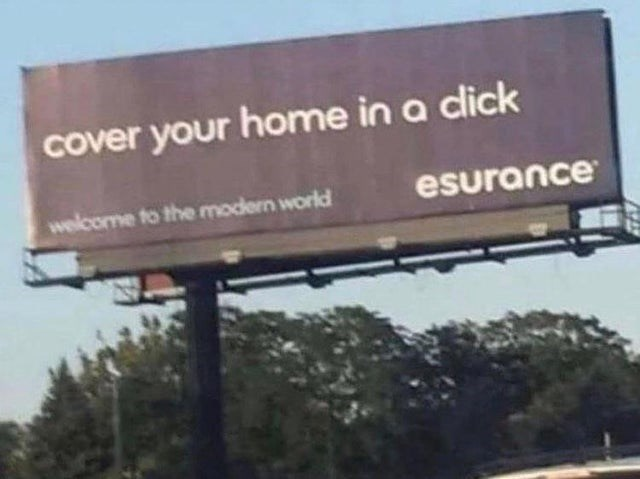 Sky - cover your home in a dick welcome to the modern world esurance