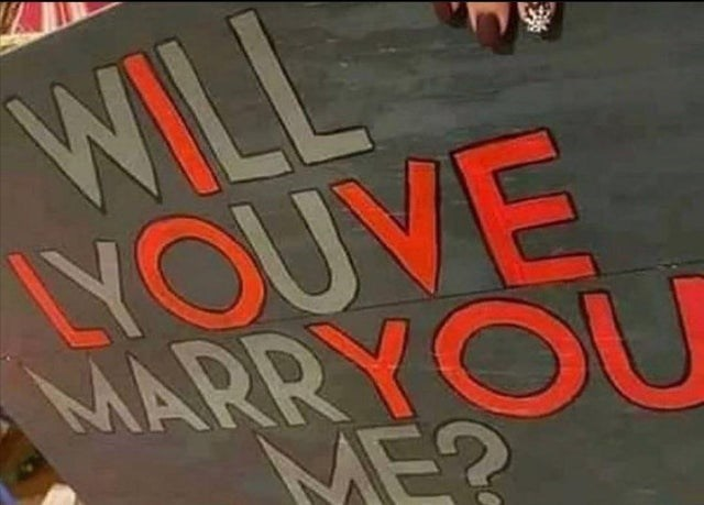 Wood - WILL LYOUVE MARRYOU ME?