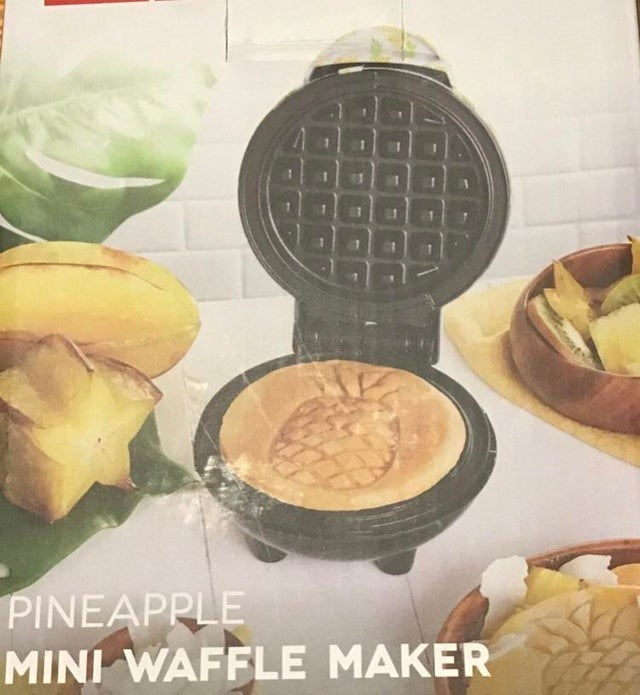Food - 88 PINEAPPLE MINI WAFFLE MAKER