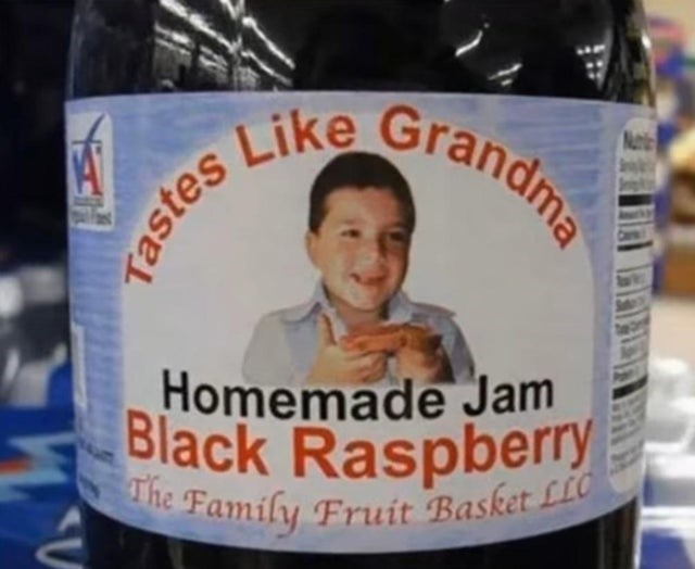 Bottle - Black Raspberry Grandma Nut Like Homemade Jam he Family Fruít Basket LLC Tastes