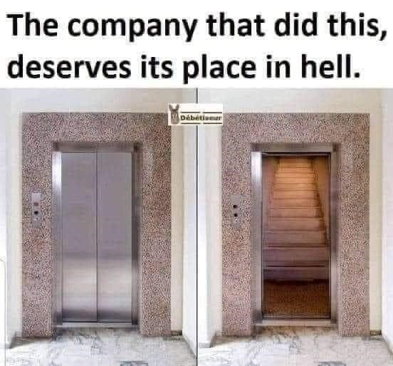 Door - The company that did this, deserves its place in hell. Débétiser