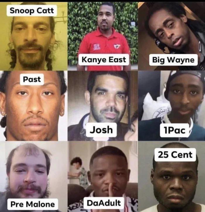 Hair - Snoop Catt Kanye East Big Wayne Past Josh 1Pac 25 Cent Pre Malone DaAdult