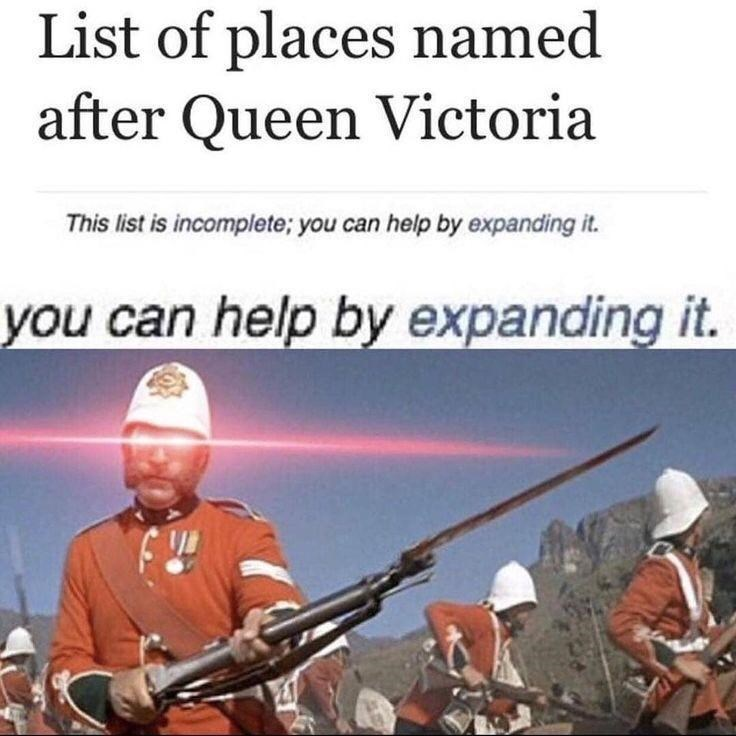 Shotgun - List of places named after Queen Victoria This list is incomplete; you can help by expanding it. you can help by expanding it.