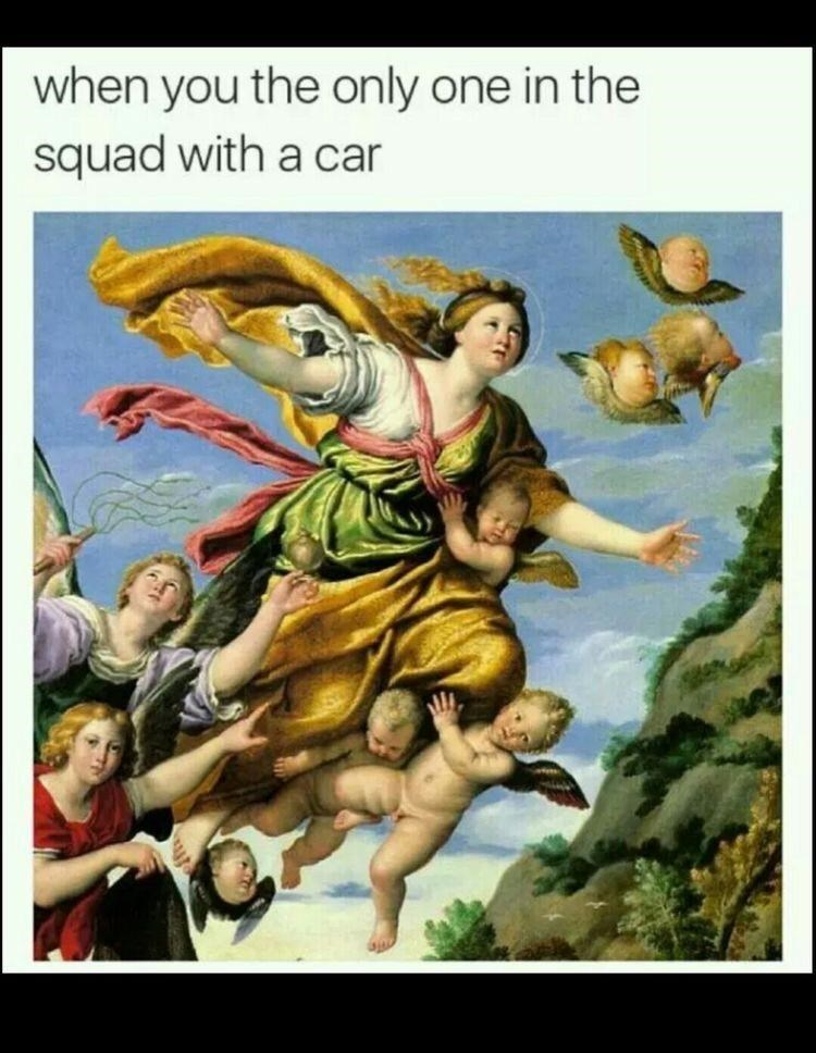 Art - when you the only one in the squad with a car
