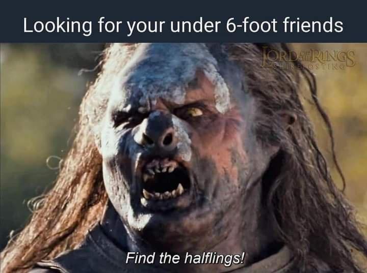 Vertebrate - Looking for your under 6-foot friends TORDAR RUNGS R ENOSTING Find the halflings!
