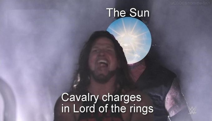 Smile - UCODES from-the-SKY The Sun Cavalry charges in Lord of the rings
