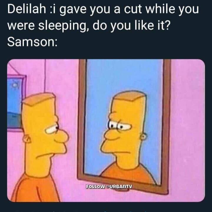 Nose - Delilah :i gave you a cut while you were sleeping, do you like it? Samson: FOLLOW QURBANTV