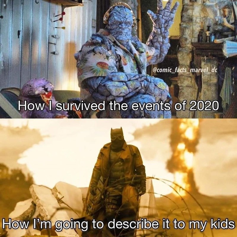 World - @comic_facts_marvel_dc How I survived the events of 2020 How I'm going to describe it to my kids