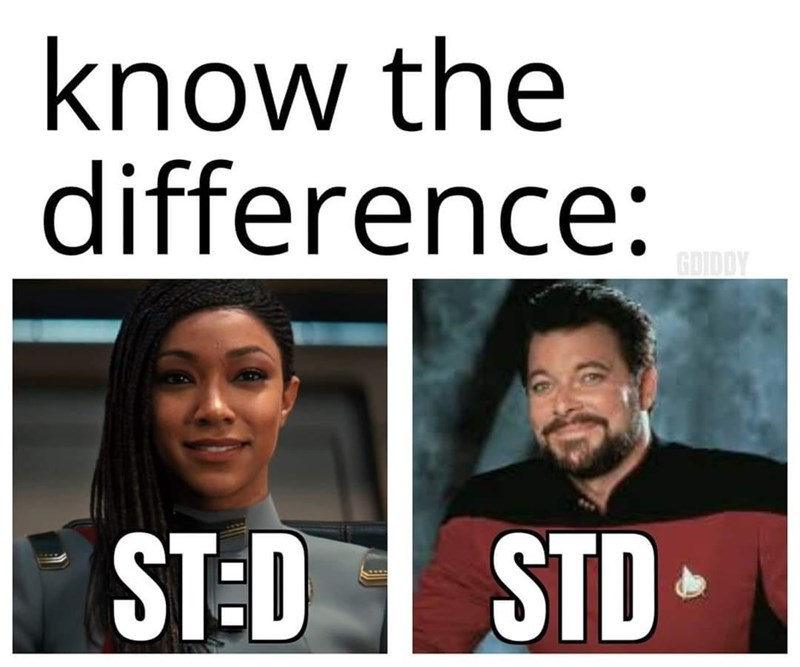 Forehead - know the difference: GDIDDY ST:D STD•