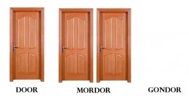 Brown - DOOR MORDOR GONDOR