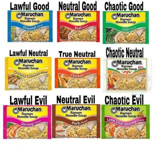 Vertebrate - Picante Chicken avor Lime Chili Shrim Greamy chicken Lawful Good Neutral Good Chaotic Good OMaruchan Ramen Noodle Soup OMaruchan Ramen Noodle Soup OMaruchan Ramen Noodle Soup Oriental e Flavor Beef navor Chili Flavor Lawful Neutral True Neutral OMaruchan Chaotic Neutral Ramen Noodle Soup OMaruchan Ramen Noodle Soup OMaruchan Ramen Noodle SoupSHNG Chicken Flavor Lawful Evil Neutral Evil Chaotic Evil OMaruchan Ramen Noodle Soup OMaruchan Ramen Noodle Soup OMaruchan Ramen Noodle Soup S