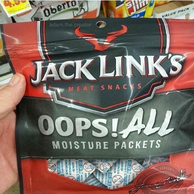 Drink - Oberto adam.the.creator VALUE PACK JACK LINK'S MEAT SNACKS OOPS!ALL MOISTURE PACKETS AKELESS ONOT EAT