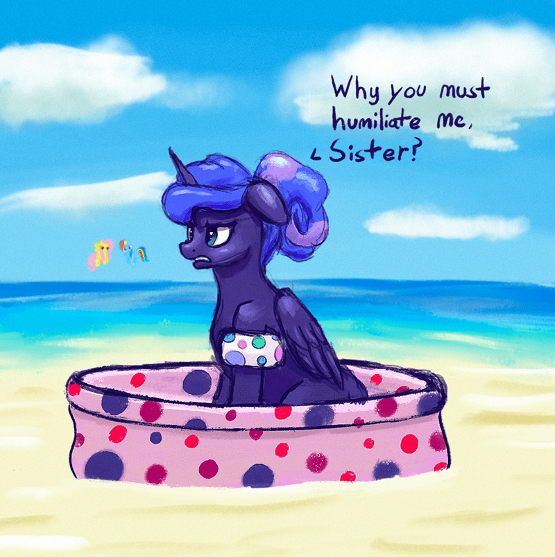 princess luna dummy horse fluttershy rainbow dash - 9618294272