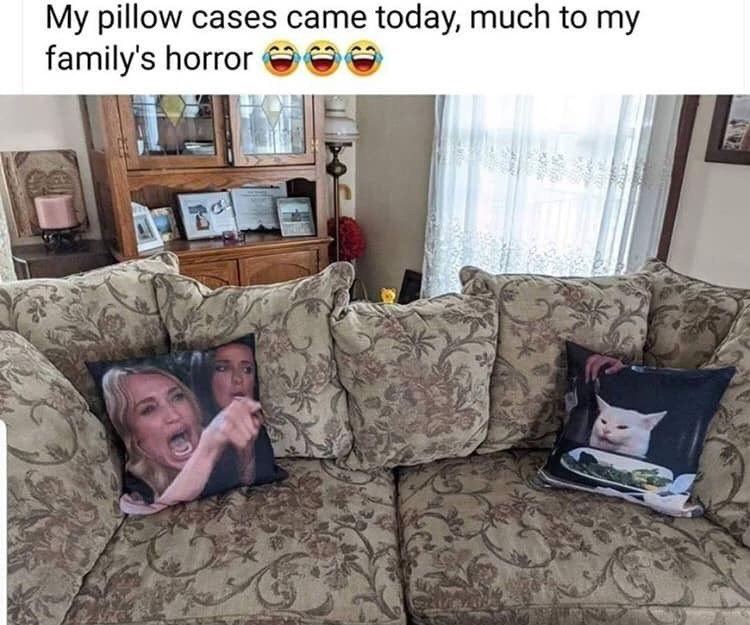 Couch - My pillow cases came today, much to my family's horror