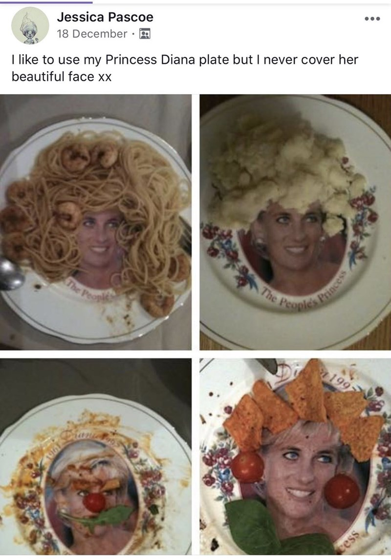 Hair - •.. Jessica Pascoe 18 December I like to use my Princess Diana plate but I never cover her beautiful face xx The Peoples The Peopl 199 Princess cess