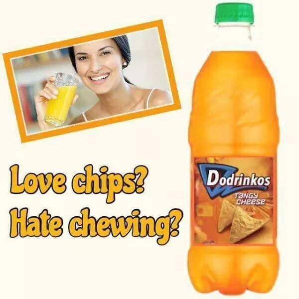 Smile - Love chips? Hate chewing? Dodrinkos TANGY CHEESE