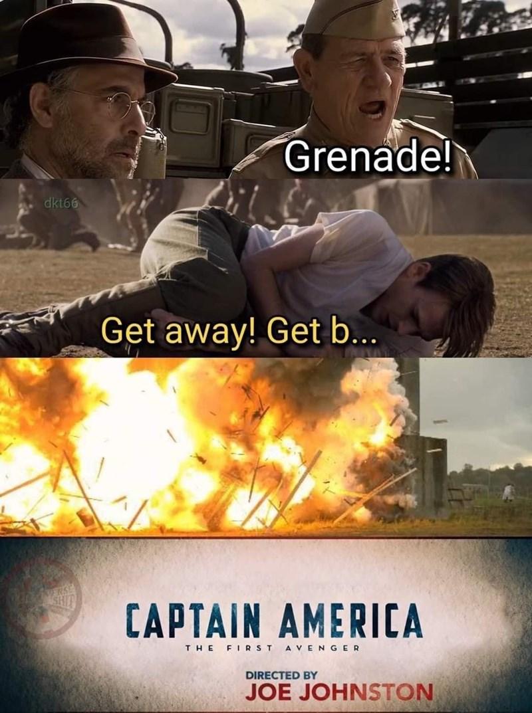 Muscle - Grenade! dkt66 Get away! Get b... SHI CAPTAIN AMERICA THE FIRST A VENGER DIRECTED BY JOE JOHNSTON