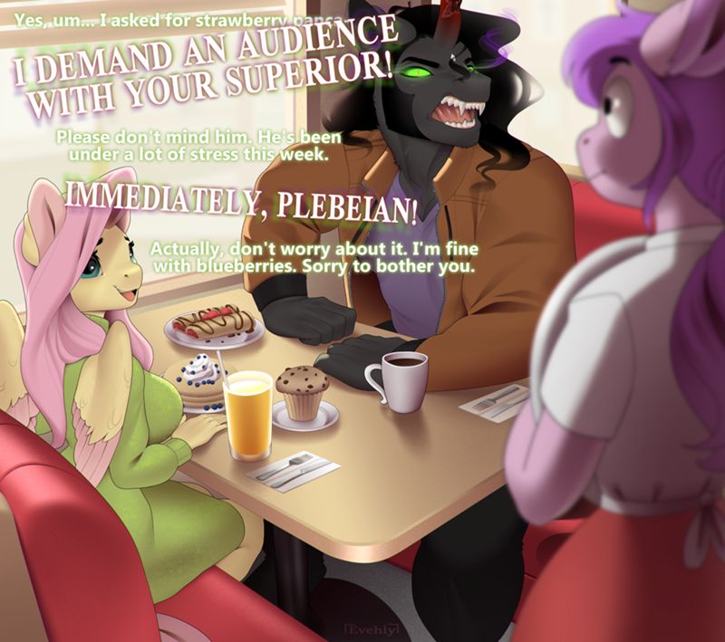 king sombra shipping evehly fluttershy - 9618740992