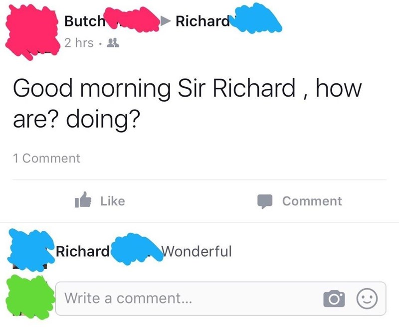 Font - Butch Richard 2 hrs · 4 Good morning Sir Richard , how are? doing? 1 Comment Like Comment Richard Wonderful Write a comment...