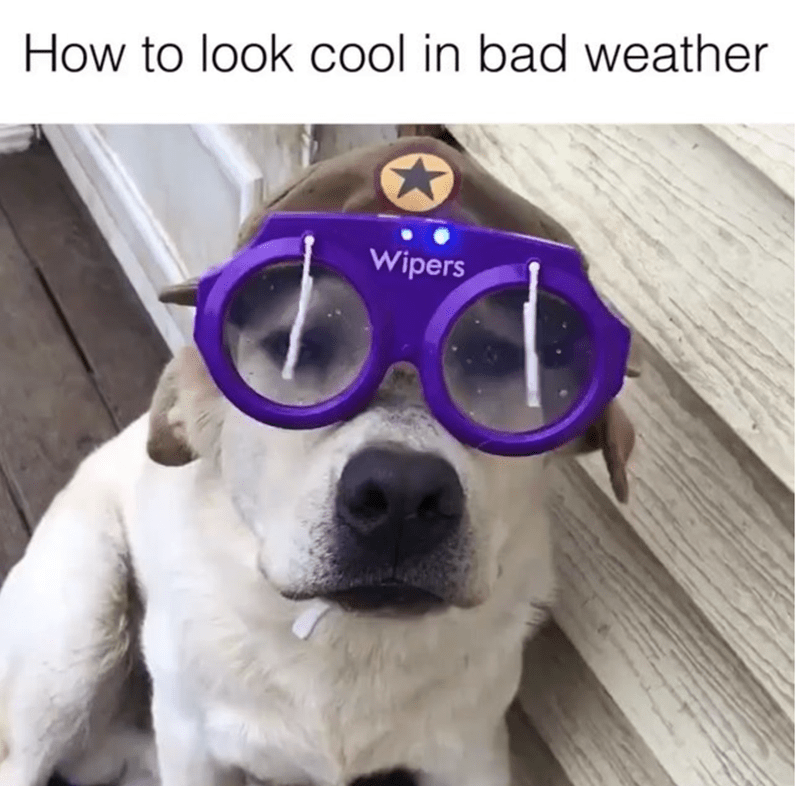 Head - How to look cool in bad weather Wipers