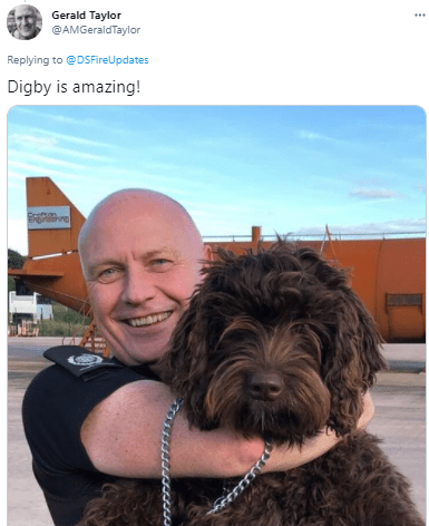 Smile - Gerald Taylor ... @AMGeraldTaylor Replying to @DSFireUpdates Digby is amazing!