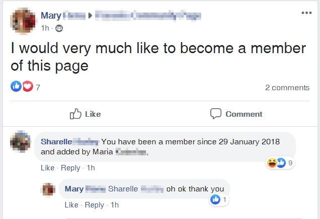 Product - Mary 1h e I would very much like to become a member of this page 7 2 comments Like Comment Sharelle You have been a member since 29 January 2018 and added by Maria 9 Like Reply - 1h Mary -Sharelle oh ok thank you 1 Like Reply - 1h