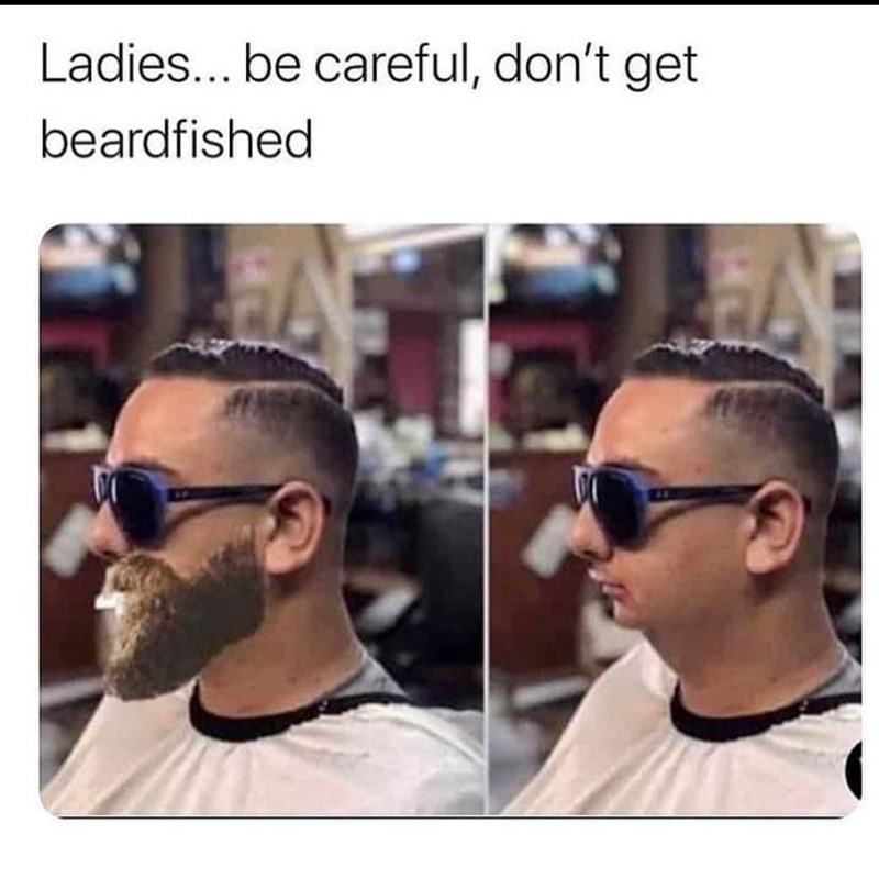 Forehead - Ladies... be careful, don't get beardfished