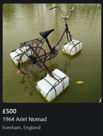 Tire - £500 1964 Ariel Nomad Evesham, England