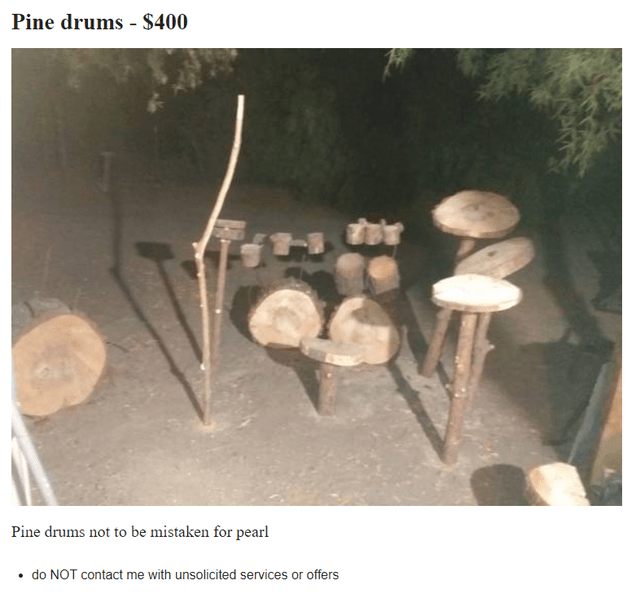Mushroom - Pine drums - $400 Pine drums not to be mistaken for pearl • do NOT contact me with unsolicited services or offers