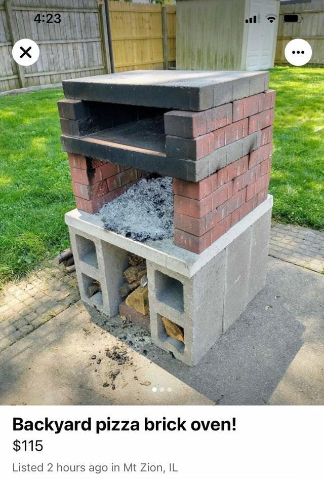 Plant - 4:23 Backyard pizza brick oven! $115 Listed 2 hours ago in Mt Zion, IL