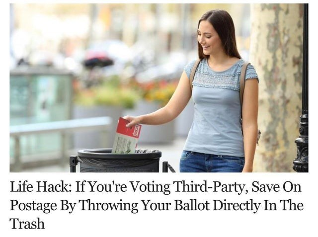 Jeans - Life Hack: If You're Voting Third-Party, Save On Postage By Throwing Your Ballot Directly In The Trash