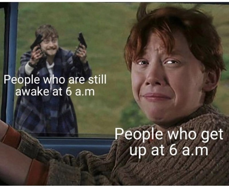 Hairstyle - People who are still awake'at 6 a.m People who get up at 6 a.m