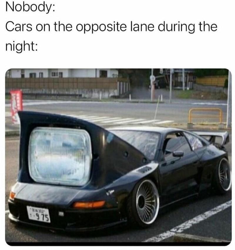 Wheel - Nobody: Cars on the opposite lane during the night: 975